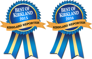 Voted Best Kirkland Dentist in 2015 & 2016.
