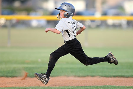 baseball player running sport
